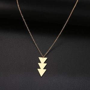3 Arrows Down/ Geometric Stainless Steel Necklace